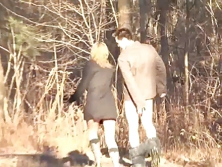 oral pleasure in the woods with a voyeur