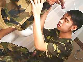hawt oriental soldiers moist washroom military