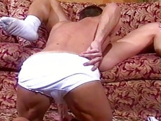 muscle homosexual males having sex on the ottoman