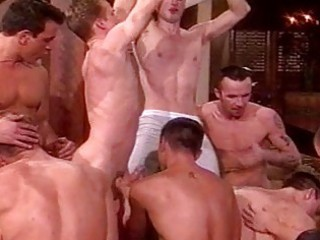 homosexual guys having a group sex party