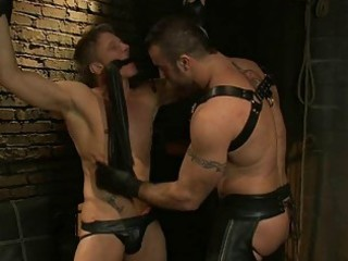a bondman guy being turned on by domination