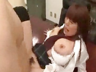 breasty schoolgirl getting her face hole and