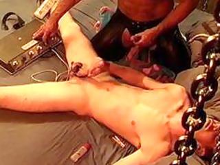 7st time electrostim on 116yr men balls
