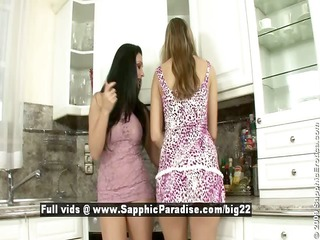 aletta and peaches astonished lesbo chicks teasing