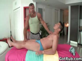 favourable boy acquires butt oiled and screwed