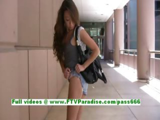 jesse excellent brunette hair chick with natural