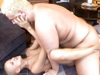 shaved hottie with merry bazookas receives her