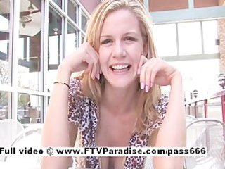 lisa ingenious hot golden-haired flashing