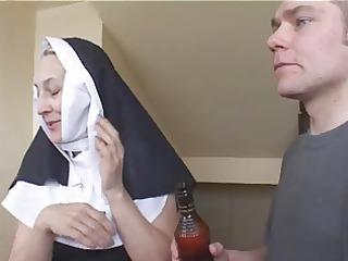 nun irina with chaps