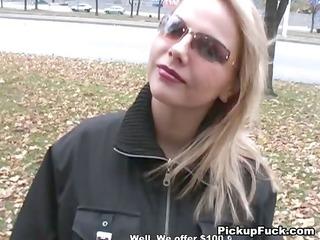 blond screwed for 749 bucks on the street