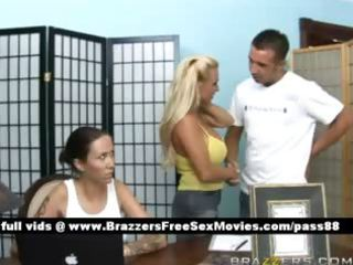 super breasty blond chick goes at a massage parlor