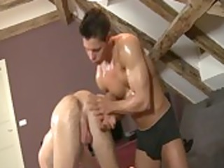 non-professional hunk straighty acquires sucked