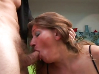 older acquires her booty screwed and cum on her