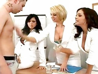 doctor assistents undressing a boy