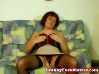 non-professional granny showing how to masturbate