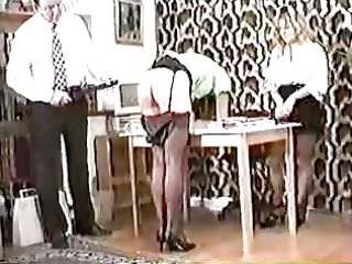 beautiful gals are punished in the office