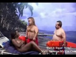 breasty darksome woman screwed by 4 midgets-