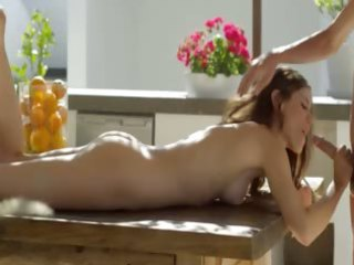 shocking art oral job sex on the table