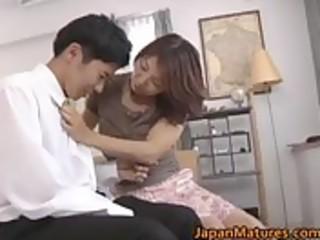 excited japanese aged sweethearts engulfing