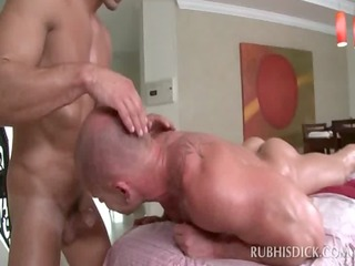 body massage turning into homo a-hole fuck and