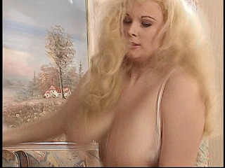 breasty blond / masked double penetration
