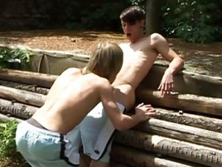 lewd twinks and an outdoor act