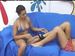 brazilian lesbian domination leek my feet