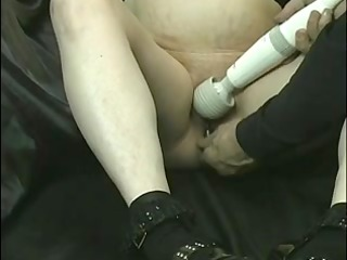 sexy blonde gets drilled with all kinds of toys