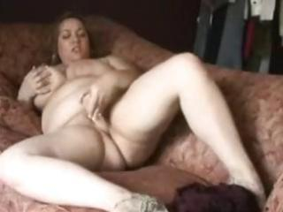big beautiful woman masturbates on bed