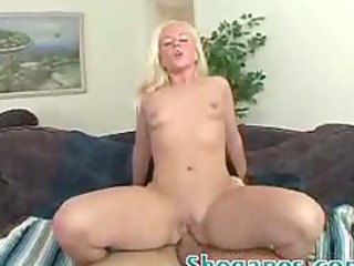 sexy golden-haired playgirl receives butt drilled