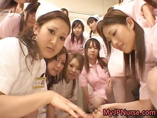 oriental nurses have a fun sex on top part3