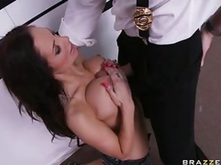 enjoyable floozy amy reid works hard on a