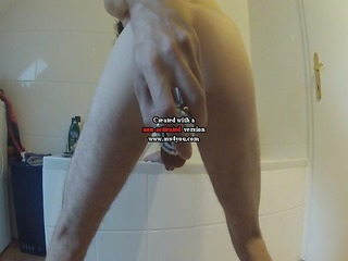 10 jear old stud plays with anal vibrator