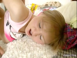 hawt youthful golden-haired honey receives his