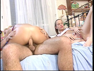 sexy angels riding three-some boys knob - dbm
