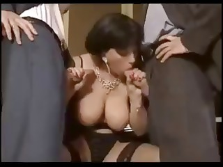 busy dark brown elodie cherie with fellows and
