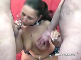 breasty brunette hair housewife lexxxi blows lads