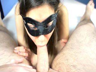 cumming on the feet of my breasty gf