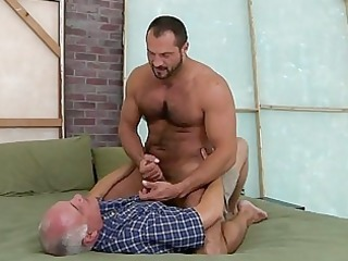 hawt old dude is swallowing unfathomable a studs