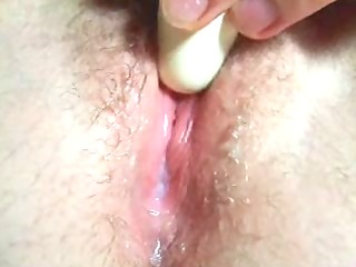 homemade real close-up milky gooey sex tool