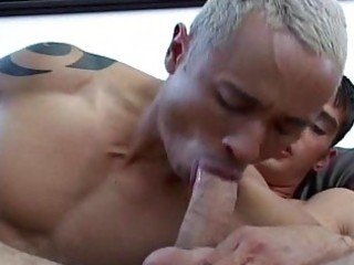 sexy blonde guy just adores to engulf mans meat