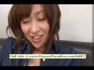 rika sugasaki oriental doll caresses her snatch