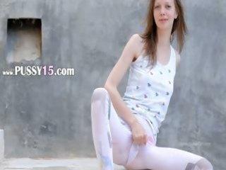 astounding peening of super slender gal