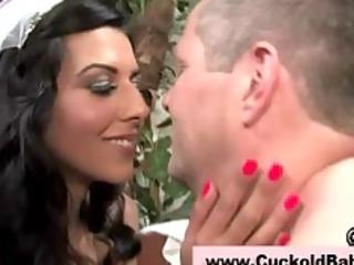 Cuckold femdom interracial big dick blowjob