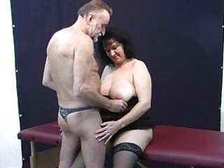 old non-professional pair home act with cum on