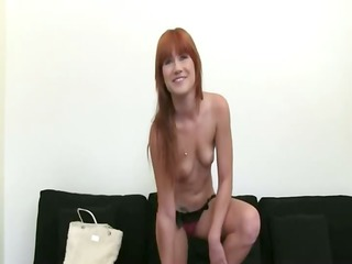 redhead princess teasing on darksome daybed