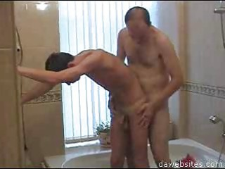 shaved stud fucking his partner in the baths