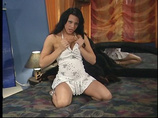 delightful lady-boy adriana shows her knob taking