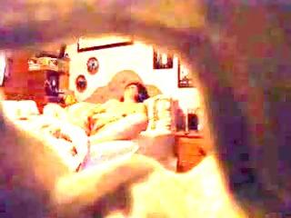 a aged lady caught masturbating